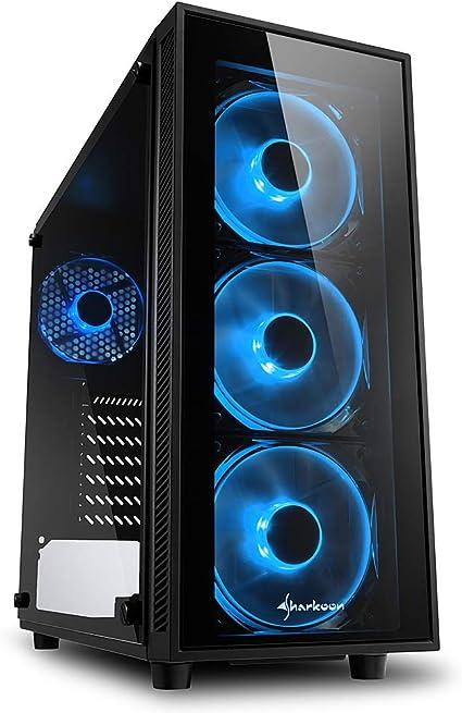 Sharkoon Tg4 Caja De Ordenador Gaming Atx, Azul: Amazon.es ...