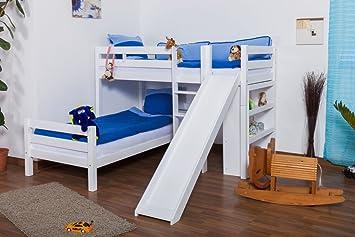 Etagenbett Mit Treppe Und Rutsche : Hochbett mit treppe und rutsche holz dass