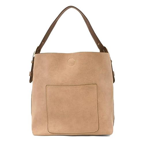 Amazon.com  Joy Susan Classic Hobo Handbag (Beige with Brown Handle)  Shoes 034db6766b51a