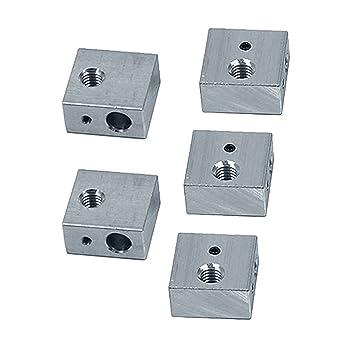 UEETEK 5pcs 3D impresora de aluminio bloque de calentador ...
