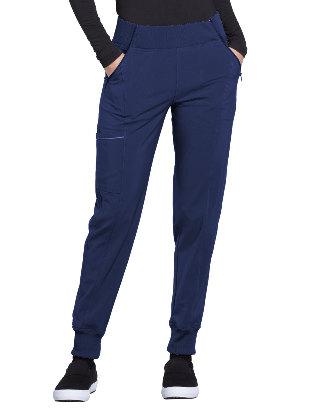 Cherokee Infinity CK110A Mid Rise Tapered Leg Jogger Pant Navy 3XL by Cherokee