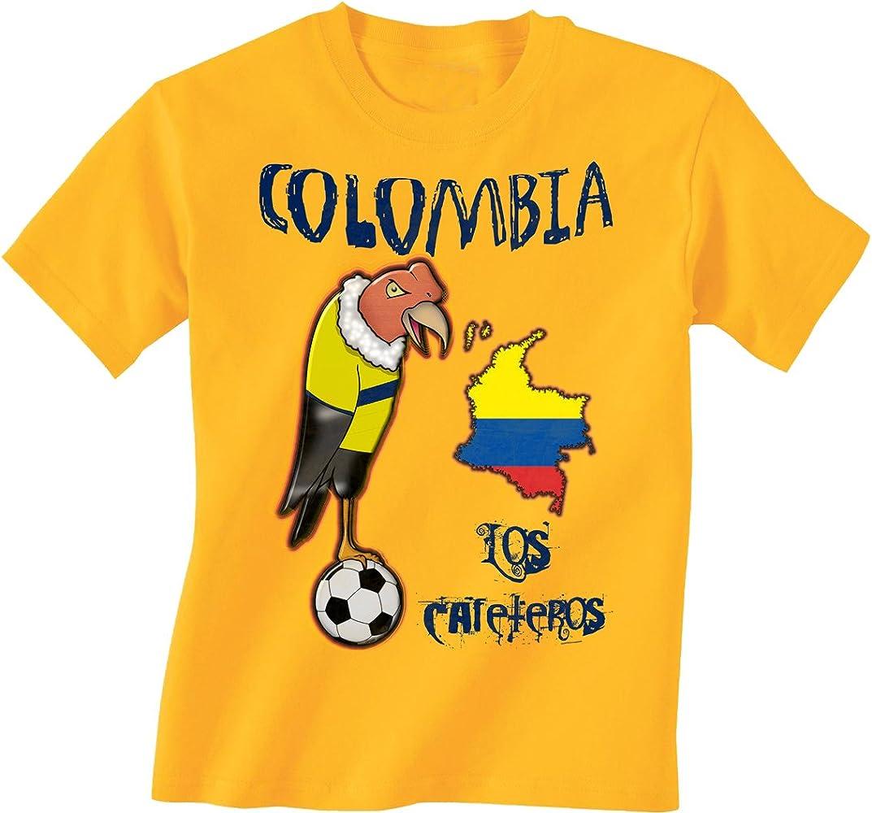Colombia Football Mascot Childrens Boys/Girls Kids Niños Camiseta World Cup T-Shirt: Amazon.es: Ropa y accesorios