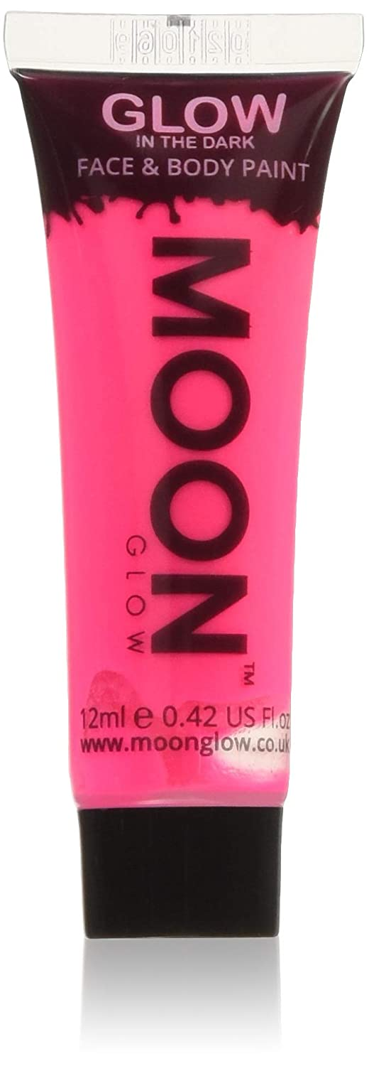 Moon Glow – Glow in the Dark Face & Body Paint - 0.42oz Pink – Phosphorescent - Charge to Glow