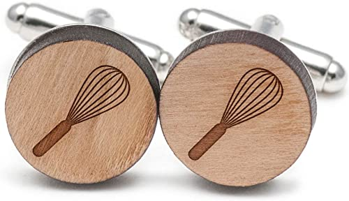 Wooden Accessories Company Wooden Tie Clips with Laser Engraved Plumber Design Cherry Wood Tie Bar Engraved in The USA