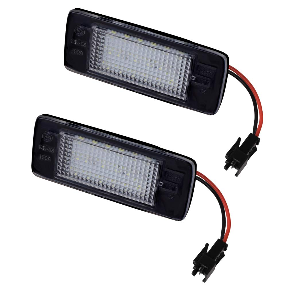 MOFORKIT LED License Plate Light White Compatible with 2015 2016 2017 2018 Chevy Suburban Tahoe GMC Yukon Cadillac ATS Escalade ESV, Malibu, Equinox
