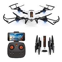 HAOXIN F22G FPV RC Drone Quadcopter Pliable avec Caméra HD 720p à Grand Angle Réglable Drone à Longue Portée Planification d'Itinéraires d'Hélicoptère Facile à Piloter, Batterie Modulaire Longue Durée