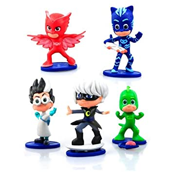 EXCLUSIVE Disney Junior PJ Masks Collectible Figure Set 5-Pack - This Deluxe Pack of