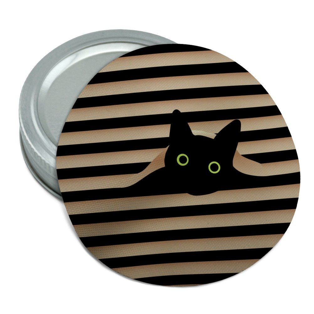 Black Cat In Window Round Rubber Non-Slip Jar Gripper Lid Opener GRAPHICS & MORE