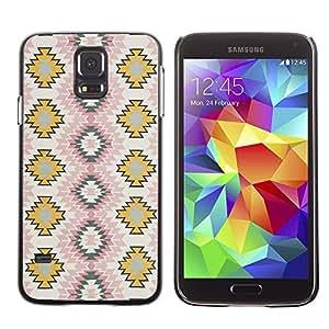 Be Good Phone Accessory // Dura Cáscara cubierta Protectora Caso Carcasa Funda de Protección para Samsung Galaxy S5 SM-G900 // Art Wallpaper Pattern Zigzag