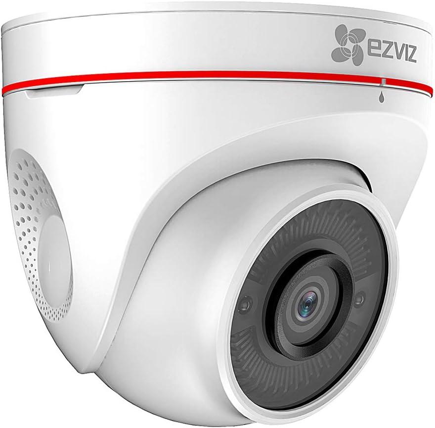 Ezviz C4w Wlan Ip Überwachungskamera Dome Kamera 1080p Ip67 Wasserdicht Für Außen Und 30m Ir Nachtsicht Mit Alarmsirene Und Blitz Unterstützt 2 Wege Audio Und Benutzerdefinierte Alarmtöne Baumarkt