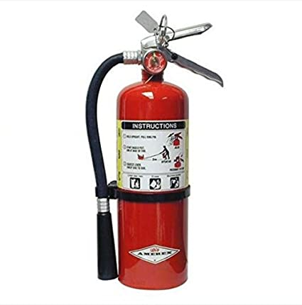 Amerex-AX-B402 ABC Fire Extinguisher 3A-40BC Rated, W / Wall Hook ...