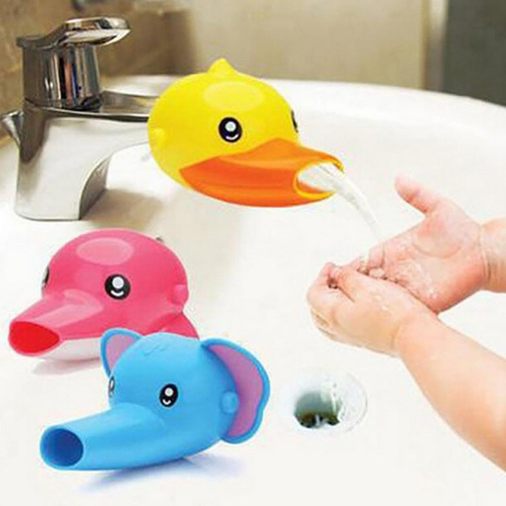 Elevin(TM) Faucet Extender Sink Handle Extension Toddler Kid Bathroom Children Hand Wash (Yellow) Pillow Case 18x18 20