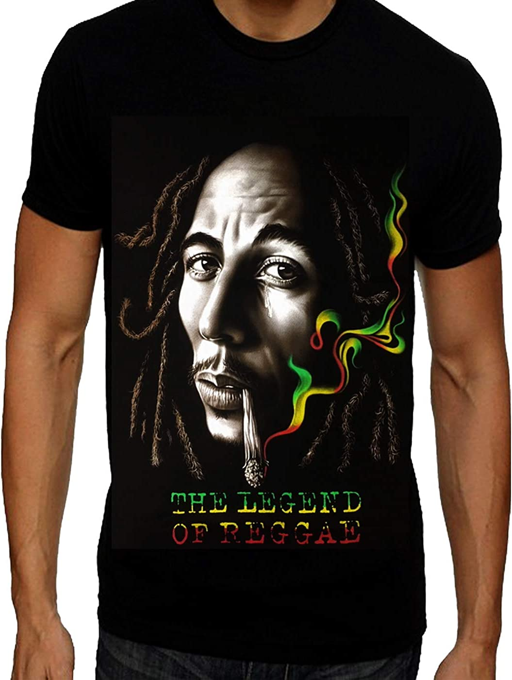 Camiseta para hombre de Bob Marley, diseño de Reggae de Jamaica ...