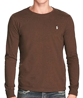 ea75ae7d RALPH LAUREN Polo Mens Custom-Fit Long Sleeve Crew Neck T-Shirt at Amazon Men's  Clothing store: