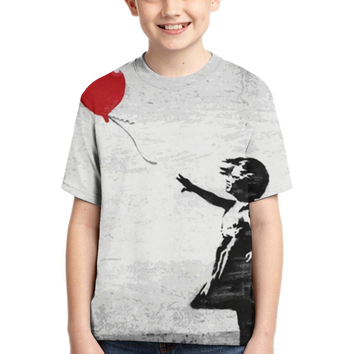 AMODECO There is Always Hope Balloon Girl 3D Printed Tee T-Shirt for Youth Teenager Boys Girls