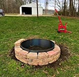 """Steel Campfire Ring Fire Pit Liner 60"""" x"""