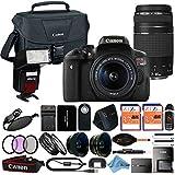Canon EOS Rebel T6i 18MP Digital SLR Camera Retail Packaging 24 Piece Bundle (18-55 & 75-300 Premium Bundle)