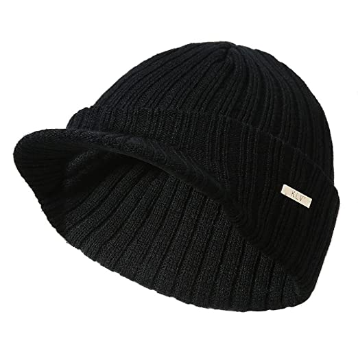Hmlai Men Women Knit Hats Baggy Winter Warm Wool Crochet Ski Beanie Skull  Slouchy Cap ( 835e8f43b2f4
