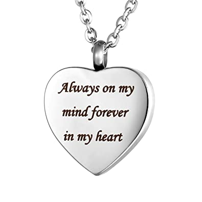 Valyria personalised jewellery gift ashes pendant necklace engraved valyria personalised jewellery gift ashes pendant necklace engraved always on my mind forever in my aloadofball Choice Image