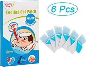 ifory 6 Sheets Fever Patch for Baby, Nontoxic Cool Pads for Kids Immediate, Cooling Relief from Fever Discomfort, Skin-Safe Cold Compresses of Instant Cooling