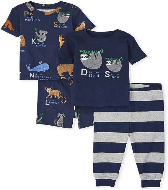 The Children's Place Boys' Four Piece Pajama Set