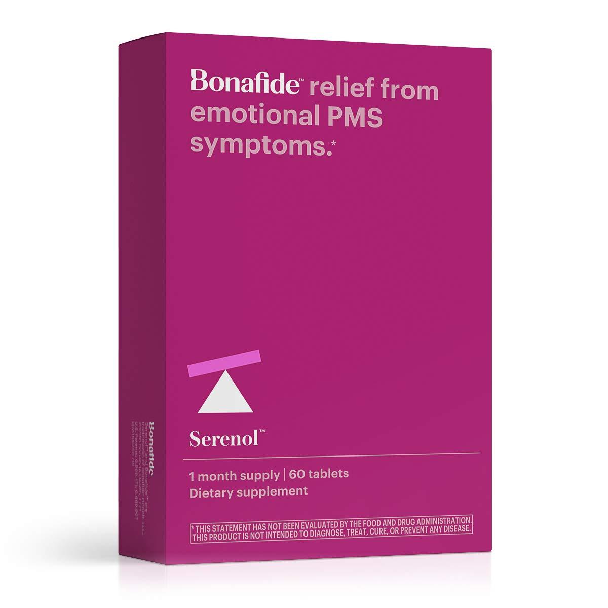 Bonafide - Serenol Multi-Symptom PMS Relief - Drug-Free PMS Treatment - 60 Tablets (1 Month) by Serenol