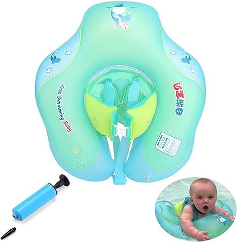 KuanGuang Flotador hinchable para bebé, flotador hinchable para ...