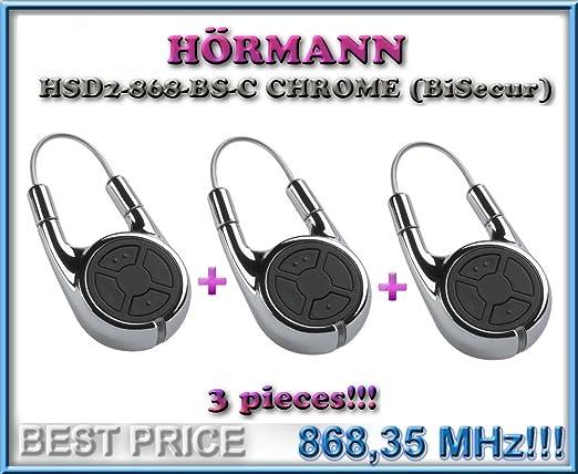 Top Qualit/ät original H/örmann fernbedienung f/ür den besten Preis!!! H/ÖRMANN HSD2-868-BS-C CHROME handsender 868,3Mhz 2-kanal fernbedienung