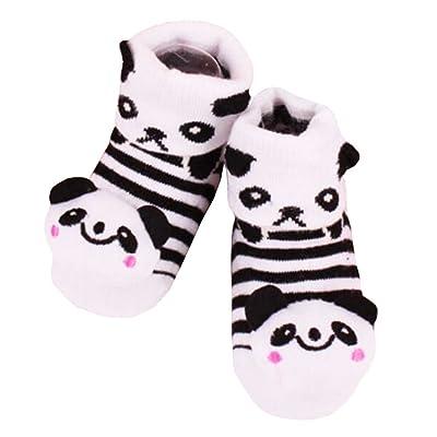 2 paires de chaussettes coton béb?cosy béb?cadeaux Chaussettes confortables Heartwarming Baby Gifts,panda