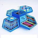BabyBaba Colors Box Color Pencil ,Crayons, Water Color, Sketch Pens Set of 46 Pieces (Random) (Random for Boys)