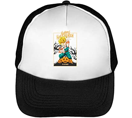 Trunks Kid Happy Halloween Dragon Ball Carving Pumpkins Anime Gorras Hombre Snapback Beisbol Negro Blanco: Amazon.es: Ropa y accesorios