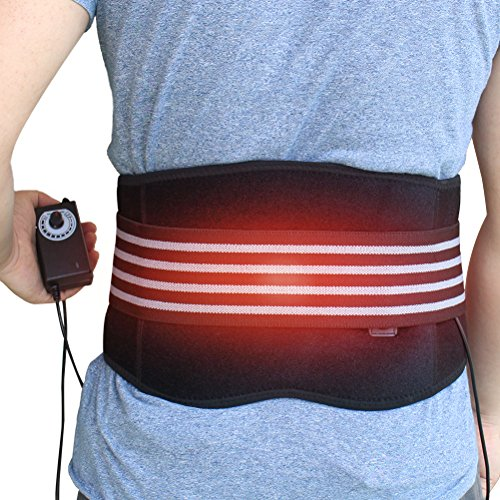(CREATRILL Heating Pad Lumbar Support Back Brace Belt Lower Back Heat Wrap Hot Therapy for Waist Pain Relief Muscle Strain Dysmenorrhea Abdominal Pain Good Back Warmer Lumbar Wrap)