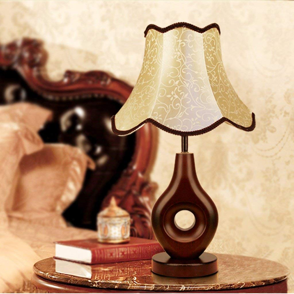 20-MoozhiTech 北欧の創造的なランプ現代のミニマリストの木製テーブルランプ、寝室のベッドサイドランプ、書斎の居間の読書ランプテーブルランプ B07TJYS8B6