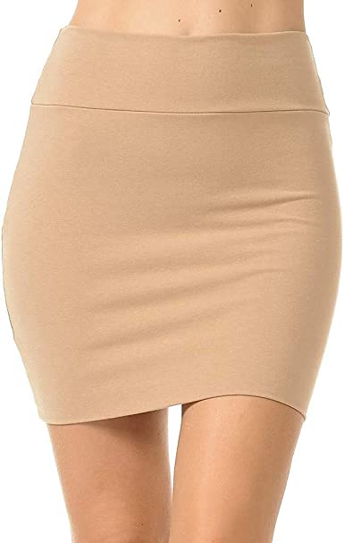 beautyjourney Minifalda Ajustada lápiz Mujer Falda Corta de ...