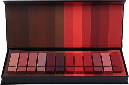 Lucoss 12 Colores Conjunto de Pintalabios Mate Cosmético para Maquillaje de Labios para Moda de Mujeres,con Caja de Regalo: Amazon.es: Belleza