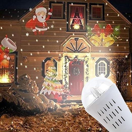 New_Soul Lámpara de Proyección Navideña LED Decoración Luces para ...