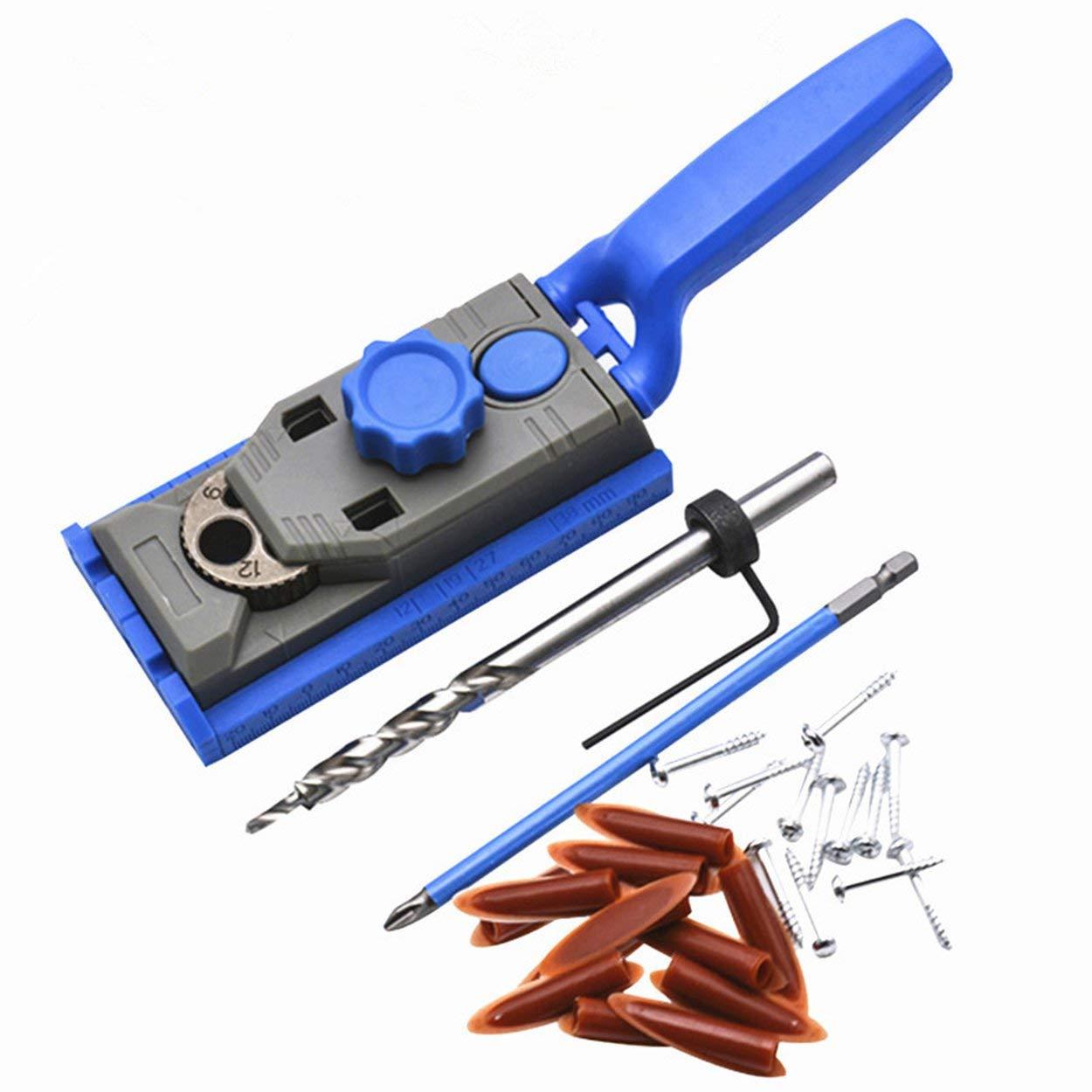 Lofenlli Multifonctionnel Genius Jig 2 in 1 Forage de trou de per/çage pour le bois Localisateur inclin/é pour le bois Kit de gabarit de trou oblique