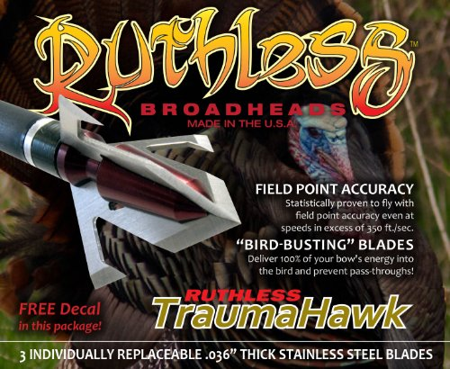 UPC 896859002353, Ruthless Broadheads TraumaHawk Archery Point, 100gm