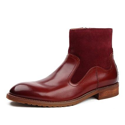 Zapatos Clásicos de Piel para Hombre Botas de Cuero para Hombres Botas Martin de Invierno Botas