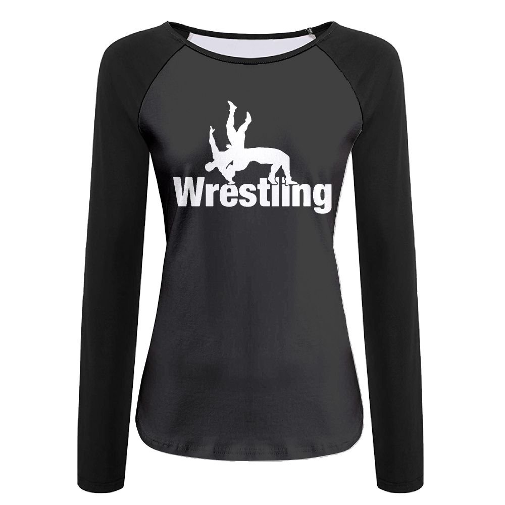 Women's Wrestling Clipart-1 Graphic Long-Sleeve T-Shirt