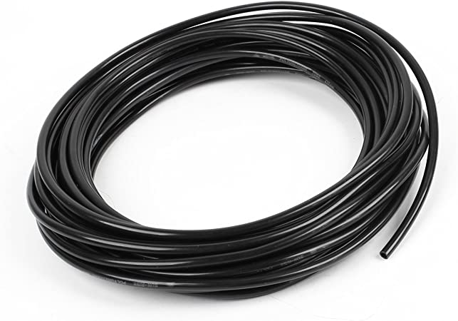 uxcell Pneumatic Hose 12mm OD 8mm ID Polyurethane PU Air Hose Pipe Tube 5 Meter 16.4ft Black