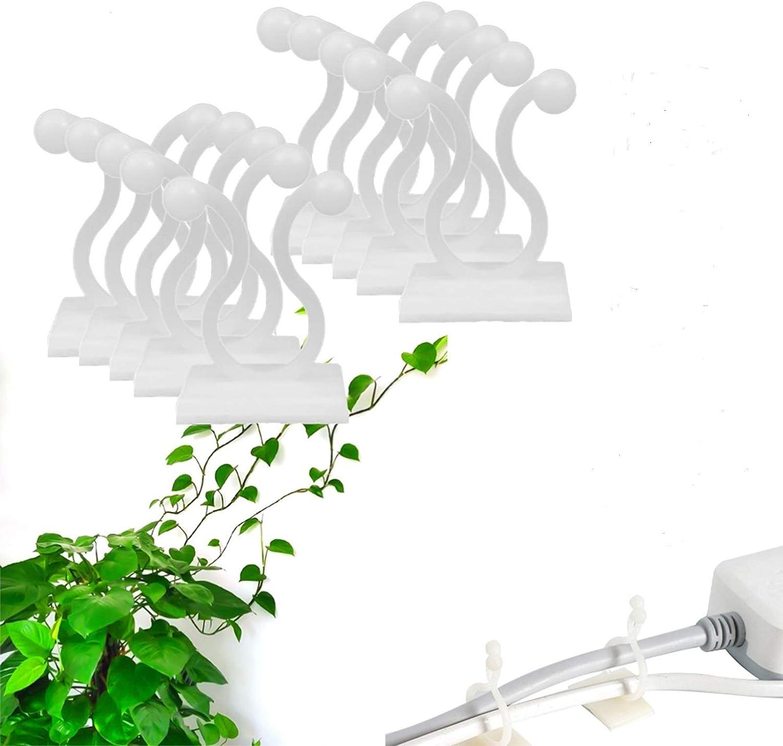 100Pcs Self-Adhesive Plant Climbing Wall Fixture Clips Home Vine Holder Hook Bro