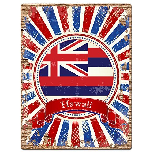 usa-hawaii-state-flag-chic-sign-rustic-vintage-retro-kitchen-bar-pub-coffee-shop-aluminum-metal-sign