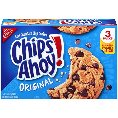 - Chips Ahoy! Original Chocolate Chip Cookies - Family Size Bulk Pack with 3 Resealable Packages, 54.6 Ounce