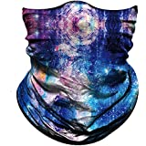 Obacle Seamless Bandana for Rave Face Mask Dust Wind UV Sun Protection Durable Neck Gaiter Tube Mask Headwear Bandana Face Mask for Women Men Festival Party Motorcycle Riding Fishing Hunting Outdoor