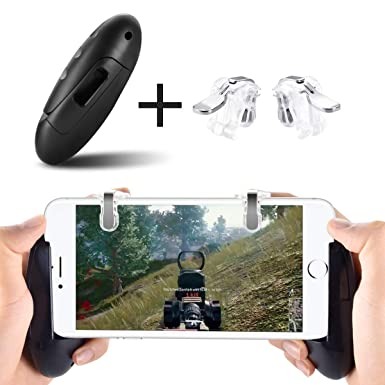 Newseego PUBG Mobile Game Controllers, Phone Triggers Shooter Sensitive  Controller Joysticks Aim & Fire Trigger Gamepad for All 4 5-6 5 inch Phone  (1