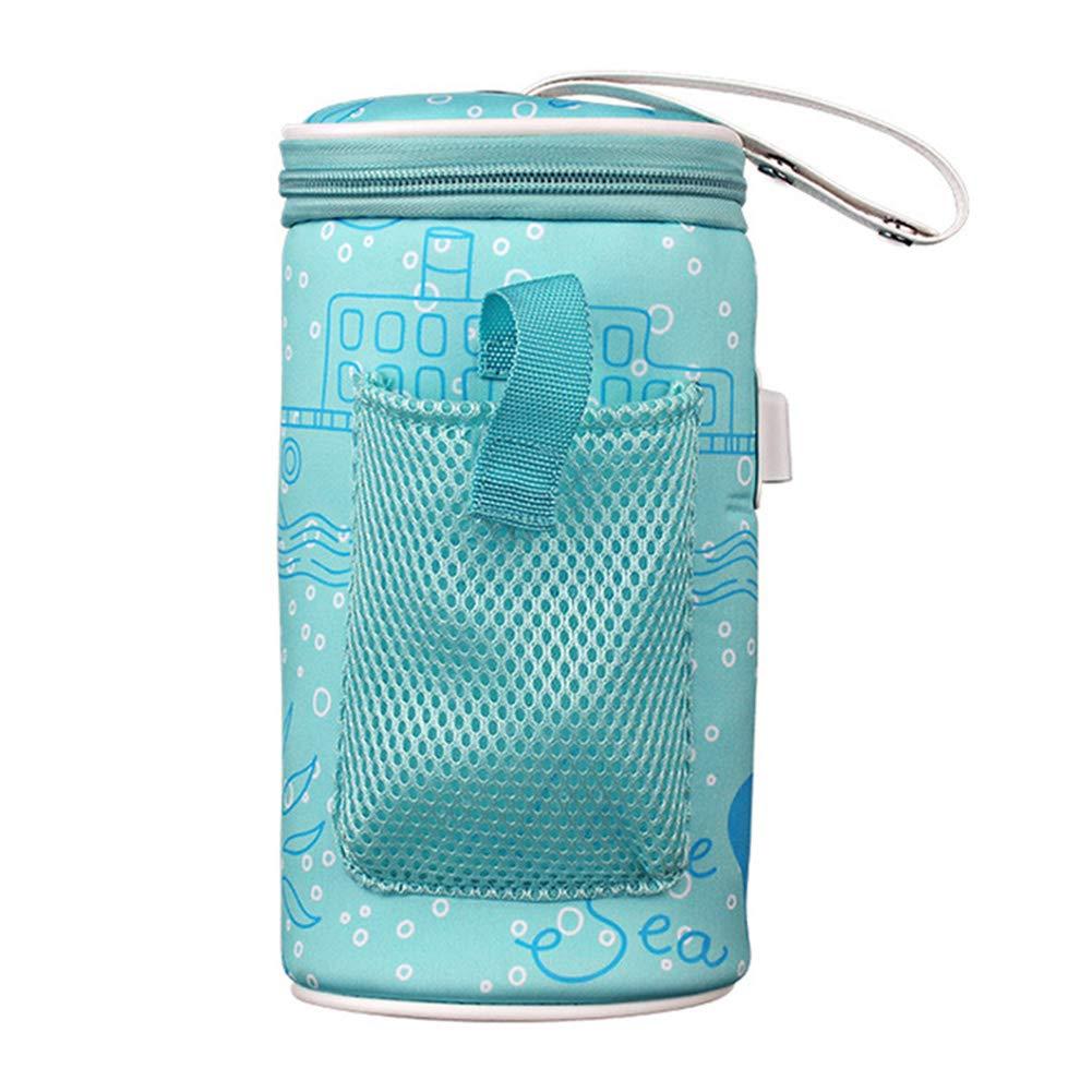 Excellent112 Baby-Flaschenwärmer – elektrisch, 2A-5 V USB-Ladegerät, Futterbecherwärmer, für Neugeborene/Milch-Thermostat, Reise-/Outdoor-Isoliertasche