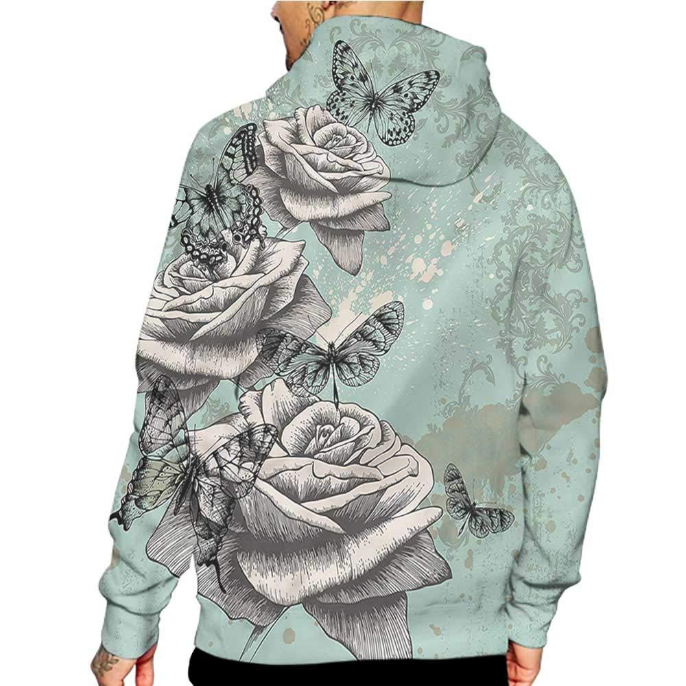 Hoodies Sweatshirt/Men 3D Print Retro,Patchwork Retro Style,Sweatshirts for Teens