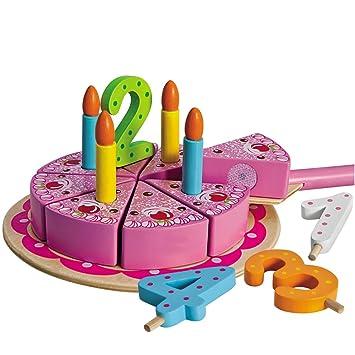 Unbekannt Geburtstagskuchen Mit Kuchenplatte Zahlen Und 4 Kerzen