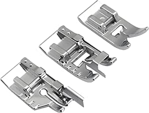 YEQIN 3 Pieces Stitch in Ditch Foot and 1/4 Inch Quilting Patchwork Presser Foot Set Suitable for Singer, Brother, Euro-Pro, Janome and More Household Multi-Function Sewing Machines
